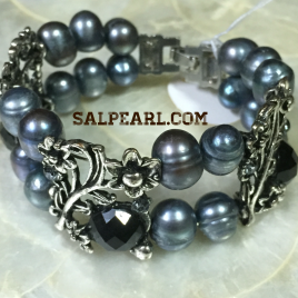 Gelang Mutiara Potato Grey